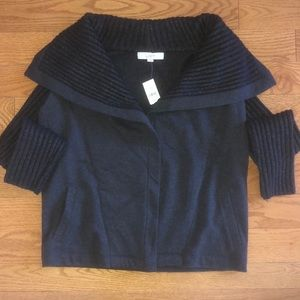 Warm Open Charcoal Sweater